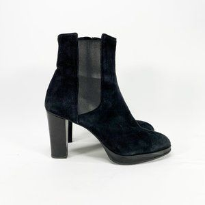 FRATELLI ROSSETTI Black Suede Chelsea Boots Round